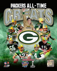 Green Bay Packers All Time Greats. #packers #nfl