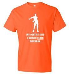 fortnite inspired floss t shirt dentist - fortnite dentist
