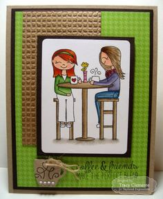 The Perfect Blend Carad by Tracy Clemente #Cardmaking, #Friendship, #JustBecause, #EmbossingFolders, #TE, #ShareJoy