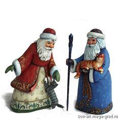 #Figurine #Sculpture #wood #Painted #Art #Christmas #Santa Дед Мороз. Скульптура. Дерево. Ручная роспись.24 см. - Сувениры и подарки из дерева. Ручная работа., авторские новогодниеи рождественские подарки. МегаГрад - мега-портал авторской ручной работы