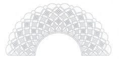 Cómo hacer abanicos de encaje de bolillos - PLANTILLAS ABANICOS BOLILLOS GRATIS - El Cómo de las Cosas Bobbin Lace Patterns, Sewing Patterns, Lace Heart, Lace Jewelry, Lace Making, Baron, Diy Clothes, Lace Detail, Fabric Crafts