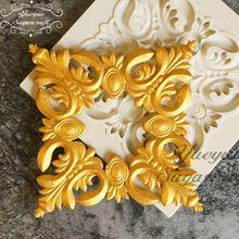 Yueyue Najnowszy silikonowe formy kremówka Sugarcraft gumpaste mold ciasto dekorowanie narzędzia chocolate mold(China)