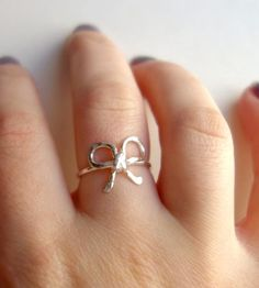 Sterling Silver Bow Ring | Commit something very important to memory with this bow ring. ... | Rings