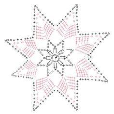 Сhristmas snowflakes crochet snowflakes set of 6 Xmas di NLovely Christmas tree decoration with eight different patterns.Tatting Lace Christmas garland white snowflakes - wedding decor - home decor - new vintage - viktorian - home decor - boho chick Crochet Snowflake Pattern, Crochet Stars, Christmas Crochet Patterns, Crochet Snowflakes, Doily Patterns, Thread Crochet, Crochet Stitches, Crochet Diagram, Crochet Motif