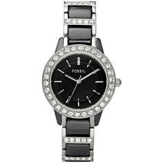 56c8d1302e4 Awesome Fossil Woven Ceramic   Crystal watch