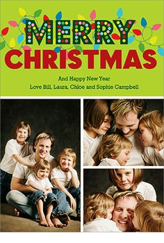Lights Galore Christmas Photo Card for PhotoAffections.com #design #holiday #christmas #card #photocard