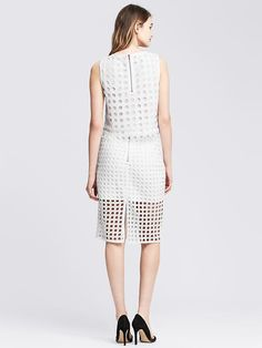 Dot Lace Pencil Skirt Product Image