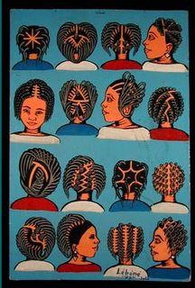 Hair dressing signs with popular styles
