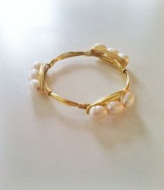 NEW  The Monroe  gold wire wrapped bracelet bangle by SOHbangles, $24.00