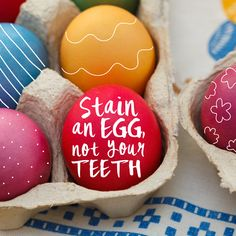 WE CAN'T WAIT to color some eggs! (And eat egg salad sandwiches for a week after!)
