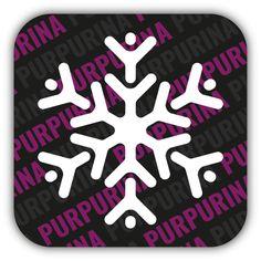 Glittertattoo sneeuwvlok voor een #Frozen feestje of met Kerstmis.