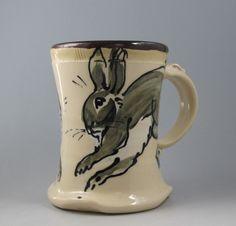 Bunny rabbit stoneware mug