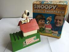 Vintage Snoopy Dog House Peanuts Pencil Sharpener, Works Great