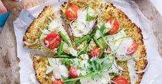 Bloemkoolpizza met primeurgroenten