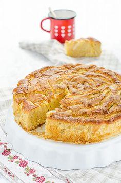 TORTA DI MELE AL FARRO LIGHT E SENZA BURRO (CON TANTISSIME MELE!) - La Penisola del Gusto Biscotti, Sweet Recipes, French Toast, Food Photography, Muffin, Cupcakes, Bread, Breakfast, Strudel