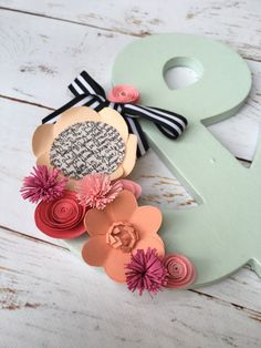 Ampersand Wall Decor hanging wall art | ampersand decor | paper flowers | wedding gift