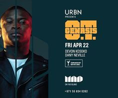 American rap star O.T. Genasis will give a breathtaking live performance on Friday April 22. Expect a night of adrenaline as OT Genasis performs his best hits including 'CoCo' and his new single 'Cut It' live at MAD on Yas Island.  Ladies enjoy complimentary bar.  Reserve on: 055 834 6262  @otgenasis #AbuDhabi #MadAsLifeShouldBe #SanityIsOverrated #ThisIsMAD #MadYasIsland #MyAbuDhabi #YasIsland #Yas #simplyabudhabi #loveabudhabi #myabudhabi #girls #ladiesnight #partyabudhabi #abudhabipeople…