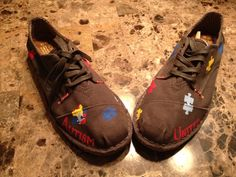 Our Favorite Pair Of TOMS!! One Of A Kind AutismUnited TOMS! I know a few people who would love these!