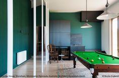 Enjoy your Sunday ! Snooker room ft. both #Aggregato pendants for a great light ► http://bit.ly/Aggregato #design Enzo Mari & Giancarlo Fassina