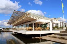 Lahden satamasta, Sibeliustalon kupeesta, löytyy modernia puurakentamista edustava Piano Paviljonki. #lahti #finland