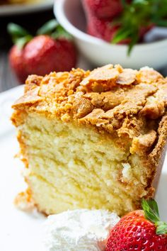 Classic Southern Pound Cake is perfectly buttery. Classic Southern Pound Cake is perfectly buttery. Easy Pound Cake, Pound Cake Recipes, Best Moist Pound Cake Recipe Ever, Crunchy Top Pound Cake Recipe, Perfect Pound Cake Recipe, Classic Pound Cake Recipe, Homemade Pound Cake, Cake, Gourmet