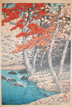 Kawase Hasui: Autumn at Okuirise - Ronin Gallery
