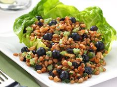 Blueberry-Wheat Berry Salad