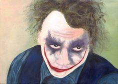 Heath Ledger IS the Joker, acrylic on canvas 2010