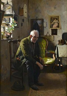 'The Empty Chair' by Charles Spencelayh (1865 - 1958)