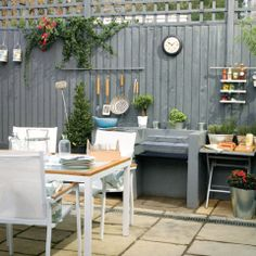 Extend Your Living Space To The Outdoors. Dining Area And Cool Outdoor  Entertainment Area Design.