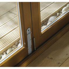 Folding Patio Doors   ... -Wen External Oak Smoothfold Pre-Finished Folding Sliding Patio Door