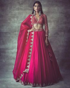 Hot pink pure raw silk lehenga bridal lehenga Hand work lehenga Upon order confirmation, we will send you a measurement chart/ Form which you will need to fill in inches ,so that it can made to your size Indian Lehenga, Raw Silk Lehenga, Pink Lehenga, Bridal Lehenga Choli, Indian Gowns, Wedding Lehnga, Pakistani Bridal, Pakistani Dresses, Lehenga Choli Designs