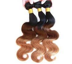 "US local 3PCS Long18""20""22"" Ombre Human Hair Brazilian Hair BODY WAVE  1b33#27#  #wigiss #HairExtension"