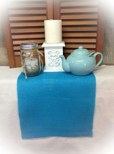 Burlap Table Runner  14 wide w/hemmed ends  by CreativePlaces, $10.00
