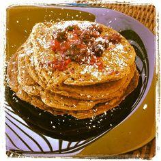 Zucchini chocolate pancake