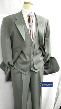 Mens Fashion Suits by Falcone Gray Burt Vested 3 Button Suit 3420-001 More Fashion at www.thedillonmall... Free Pinterest E-Book Be a Master Pinner pinterestperfecti...