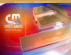 CM TV TRÊS ANOS on Behance