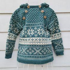 Mønster Snøhetta anorakk og genser til barn