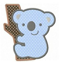 Koala Applique - 3 Sizes! | What's New | Machine Embroidery Designs | SWAKembroidery.com  $4