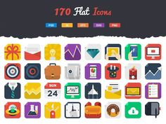 170 Awesome Flat Icons