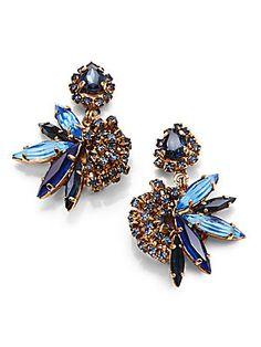 Erickson Beamon Swarvoski Crystal Envy Cluster Earrings