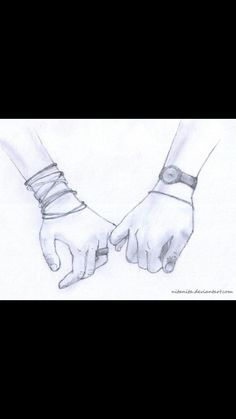 Drawings of people holding hands desktop backgrounds Hand Sketch, Sketch Art, Drawing Sketches, Girl Sketch, Manga Drawing, Drawing Tips, Drawing Ideas, Sketching, Croquis Couple