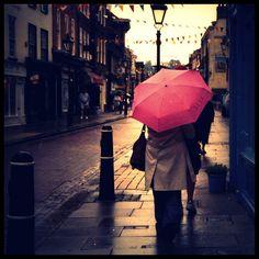 pink umbrella, umbrella