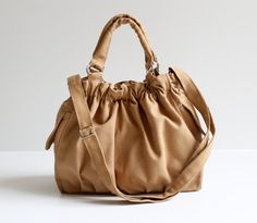 Diaper Bag / Practical Nagy Bag in Mustard / by bayanhippo on Etsy, $42.00
