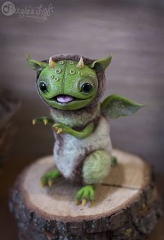 Green Lake Grindylow OOAK Art Toy by PuzglesLoft on Etsy https://www.etsy.com/listing/244323467/green-lake-grindylow-ooak-art-toy