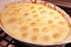 Receita de Cogumelos Gratinados - 4 colheres (sopa) de queijo parmesão ralado, sendo 3 para polvilhar antes de ir ao forno, 150ml de creme de leite, 250ml d...