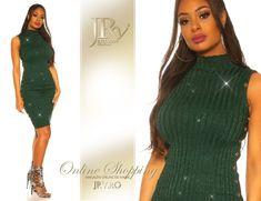 Rochie tricot Kenzy Green Comanda tel.: 0736.358.802 Look Chic, High Neck Dress, Green, Sweaters, Dresses, Fashion, Tricot, Turtleneck Dress, Vestidos