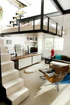 modernes Interior mit einem Hochbett