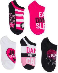 dc80d2a46 JoJo Siwa Pink   White No-Show Five-Pair Socks Set Jojo Juice