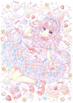 Twitter Manga Kawaii, Loli Kawaii, Kawaii Art, Kawaii Anime Girl, Cute Kawaii Drawings, Anime Girl Drawings, Anime Artwork, Anime Girl Cute, Anime Art Girl